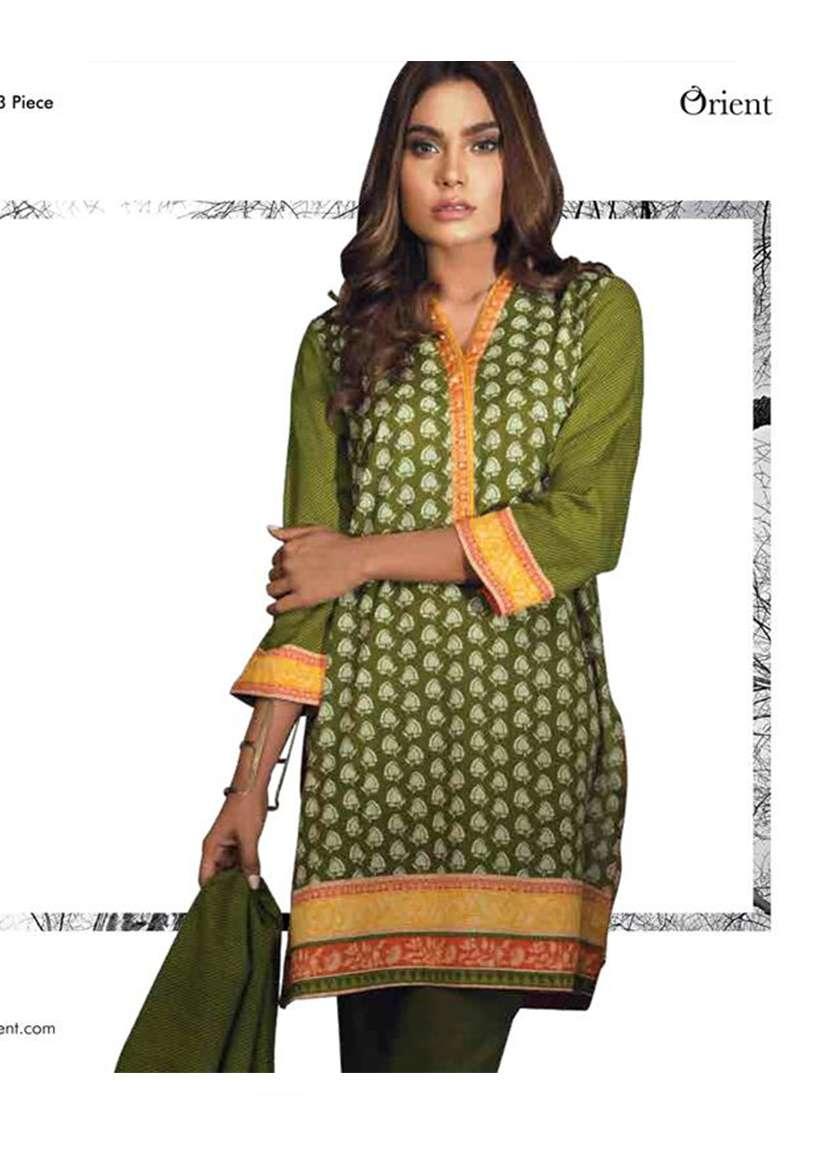 Orient Textile Printed Khaddar Unstitched 3 Piece Suit OT17W 170B