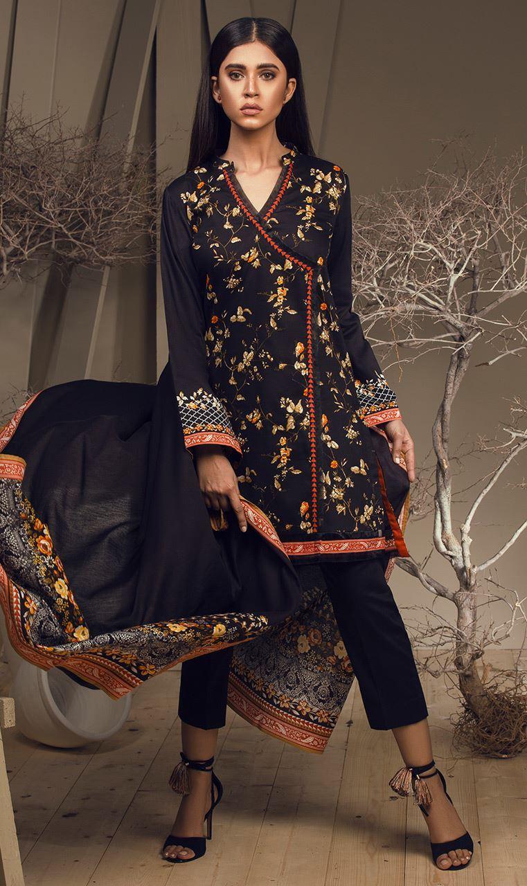 Orient Textile Embroidered Cottle Linen Unstitched 3 Piece Suit OT17W 177A