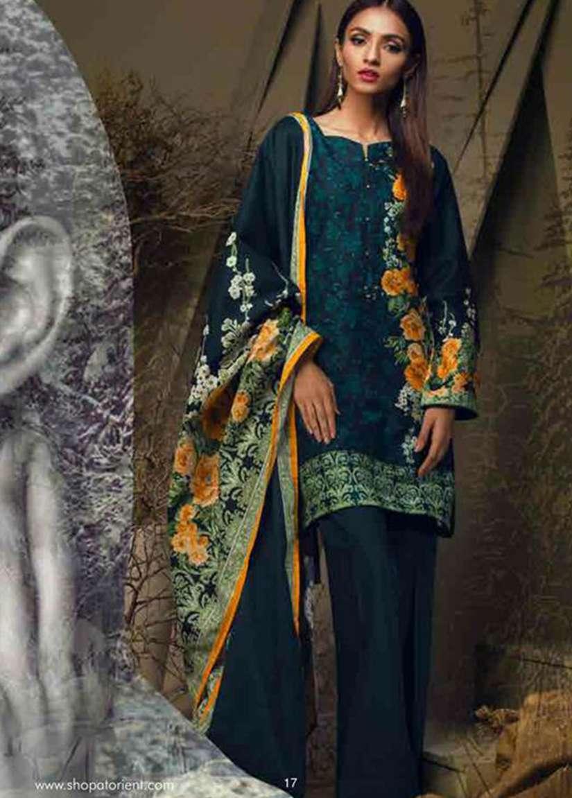 Orient Textile Embroidered Cottle Linen Unstitched 3 Piece Suit OT17W 204A