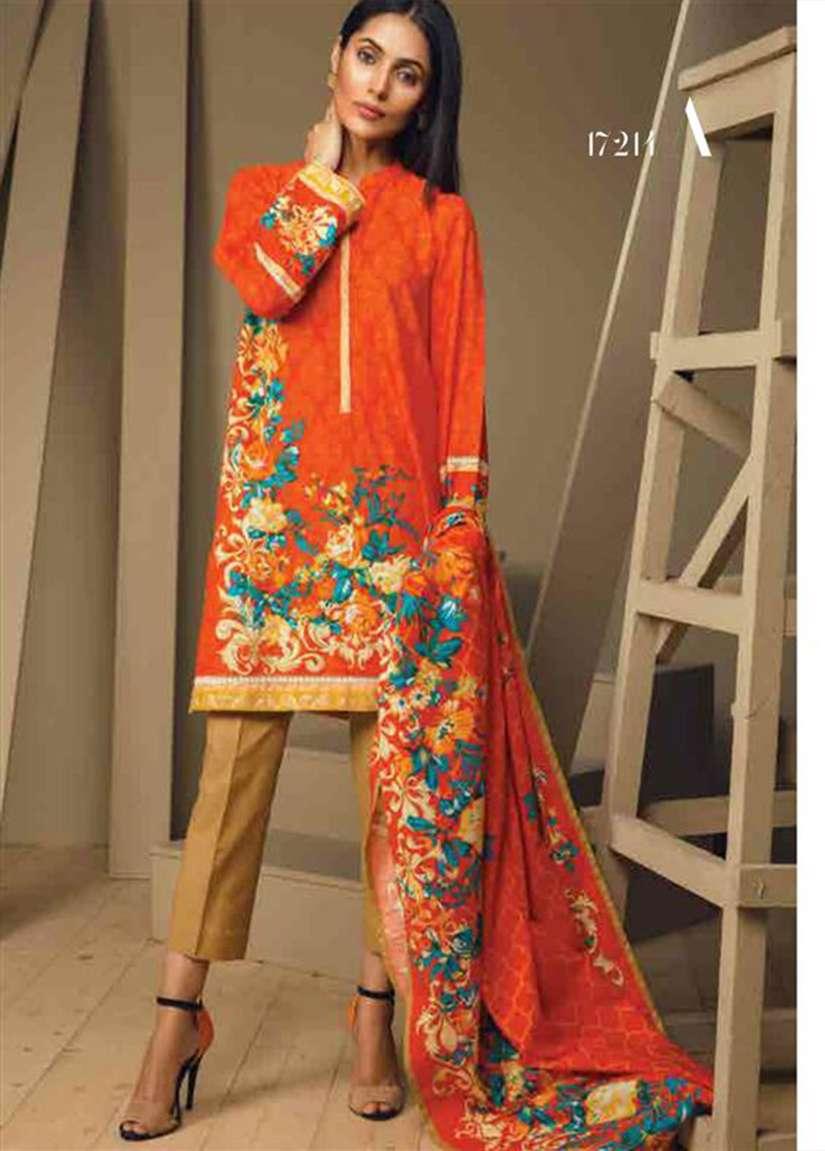 Orient Textile Embroidered Khaddar Unstitched 3 Piece Suit OT17W 214A