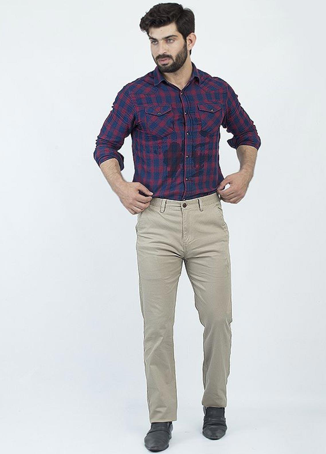 Oxford Cotton Formal Chinos for Men -  1951 KHAKI
