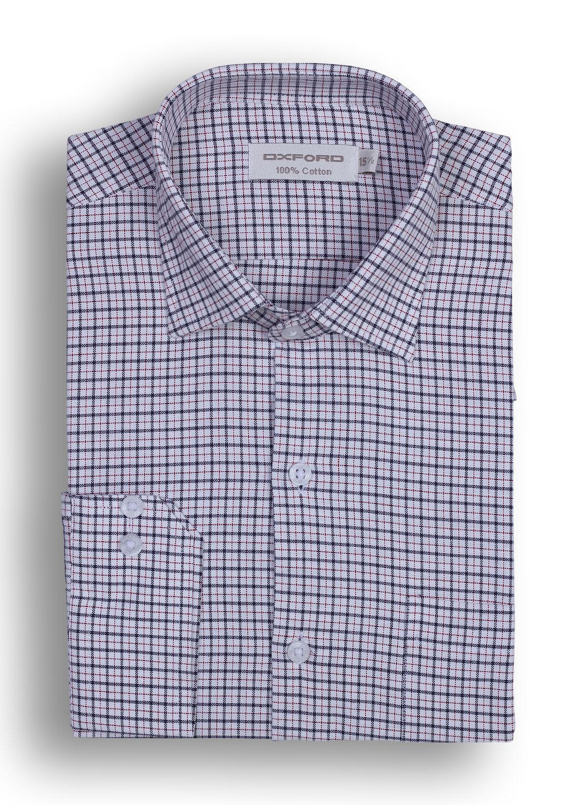 Buy Oxford Cotton Checked Shirts for Men   Black Mens formal ...