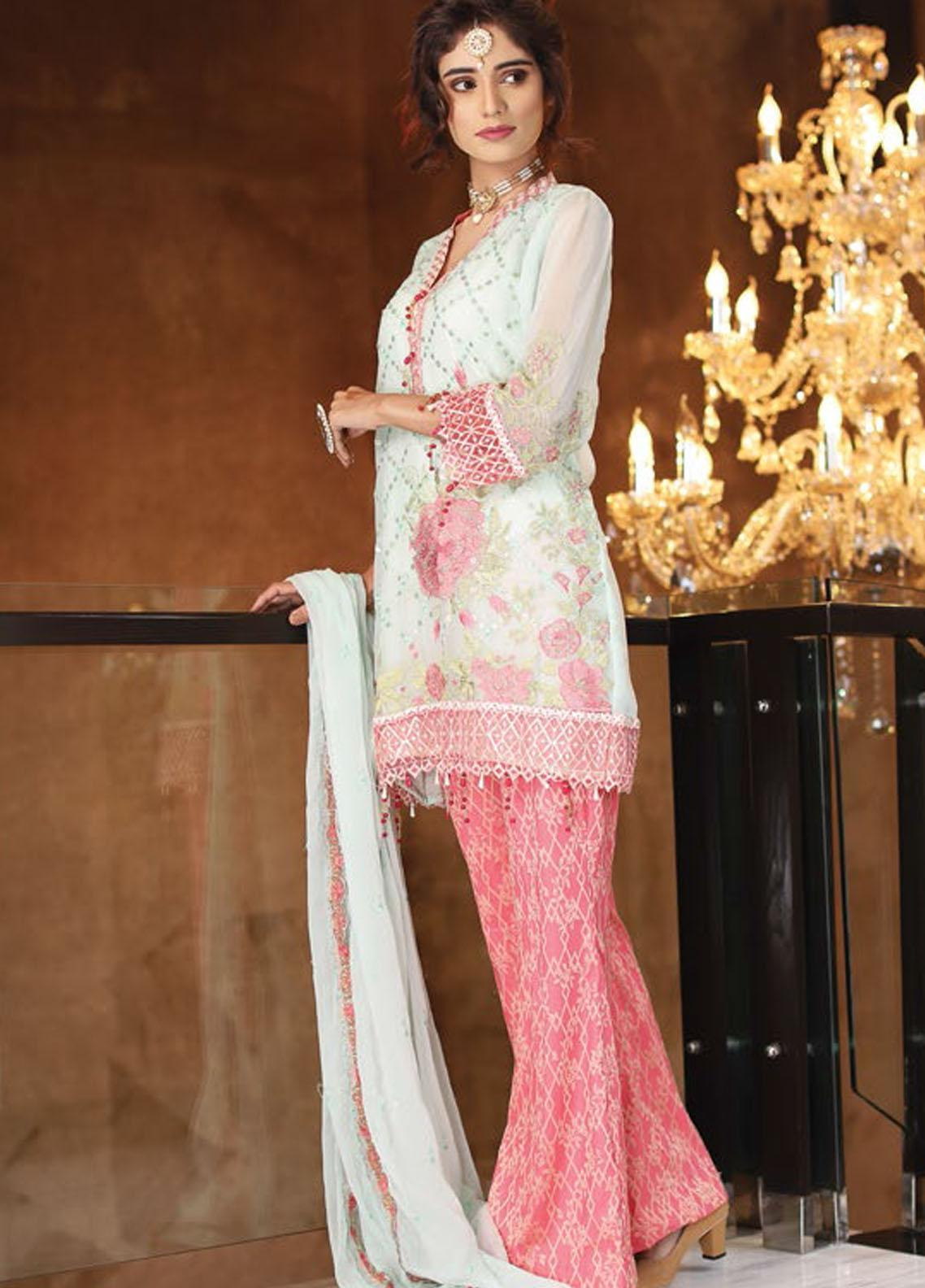 Panache by Puri Fabrics Embroidered Chiffon Unstitched 3 Piece Suit PCH20C 06 Eva - Luxury Collection