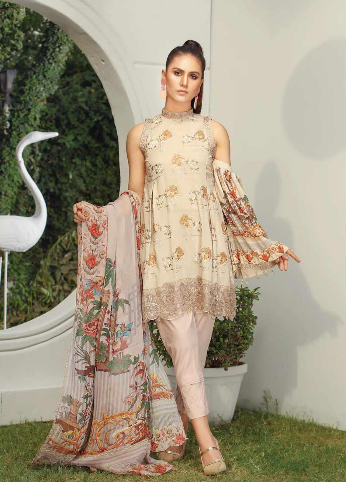 Panache by Puri Fabrics Embroidered Lawn Unstitched 3 Piece Suit PF20DP 1 - Spring / Summer Collection