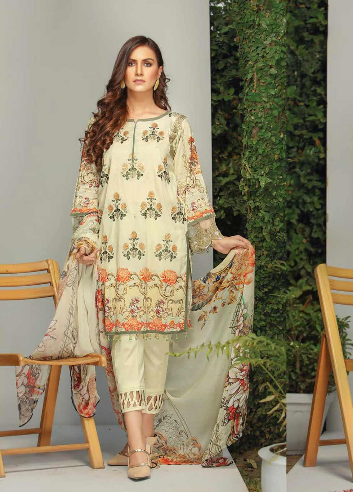 Panache by Puri Fabrics Embroidered Lawn Unstitched 3 Piece Suit PF20DP 10 - Spring / Summer Collection