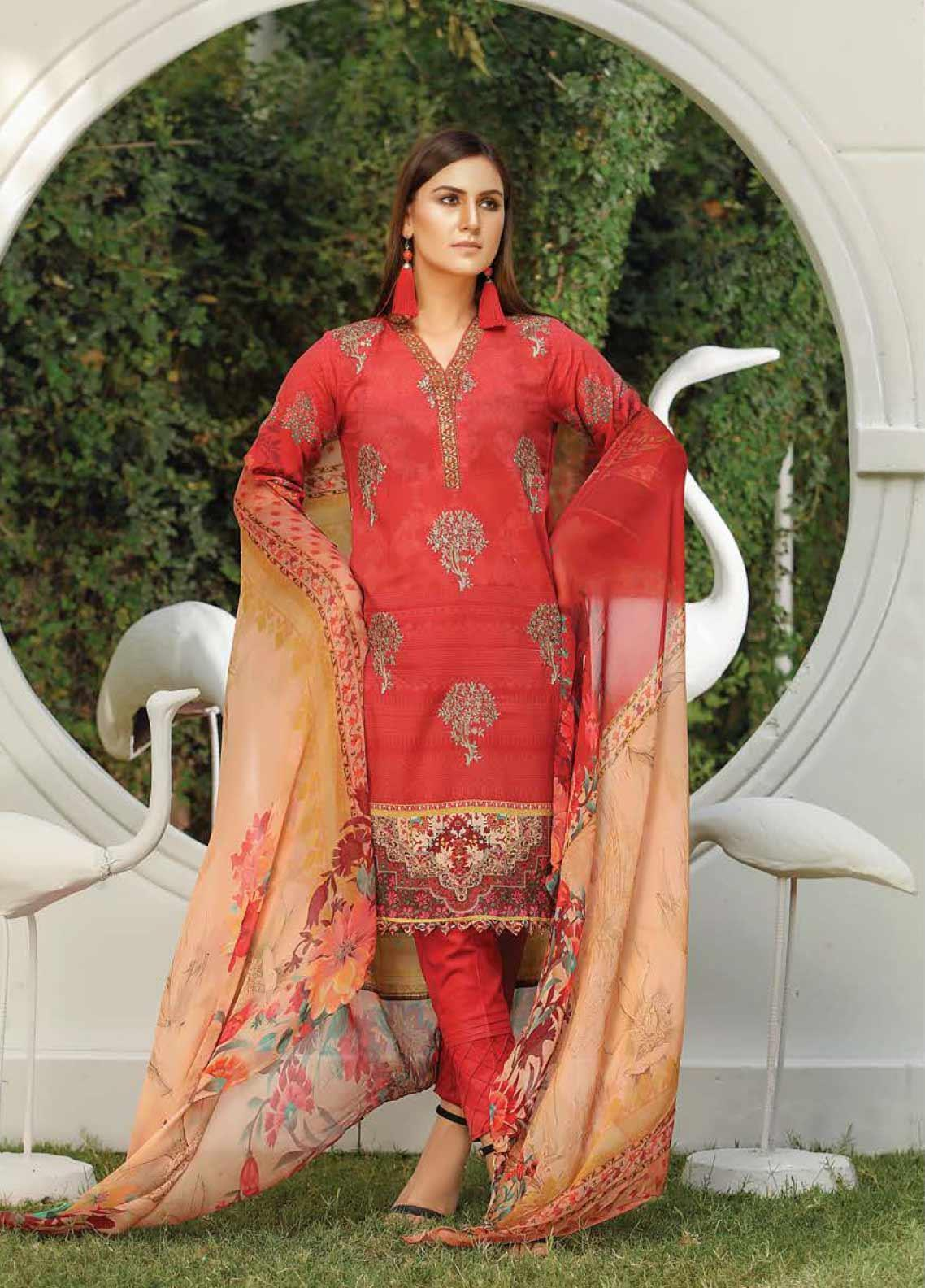 Panache by Puri Fabrics Embroidered Lawn Unstitched 3 Piece Suit PF20DP 3 - Spring / Summer Collection