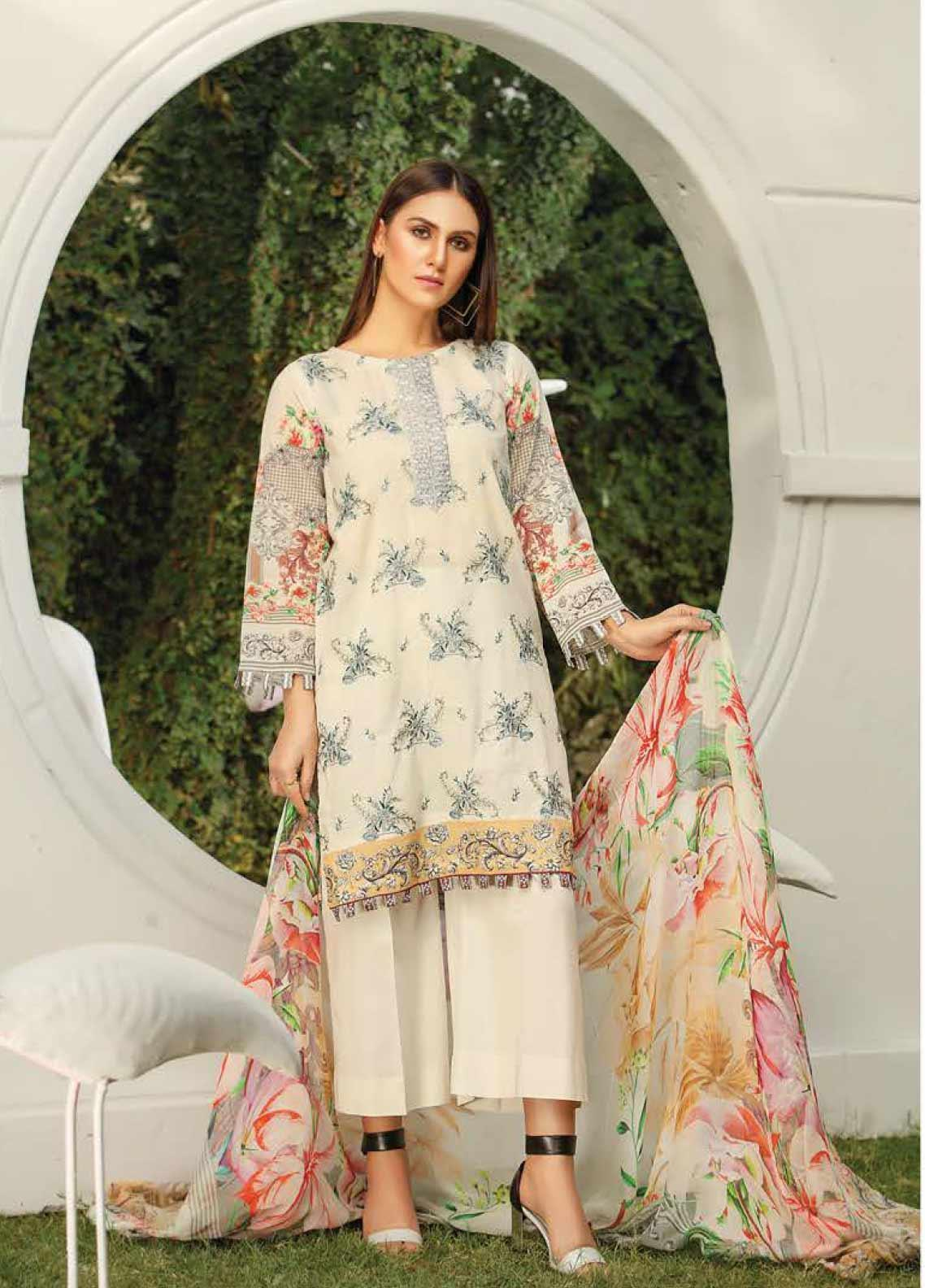Panache by Puri Fabrics Embroidered Lawn Unstitched 3 Piece Suit PF20DP 6 - Spring / Summer Collection
