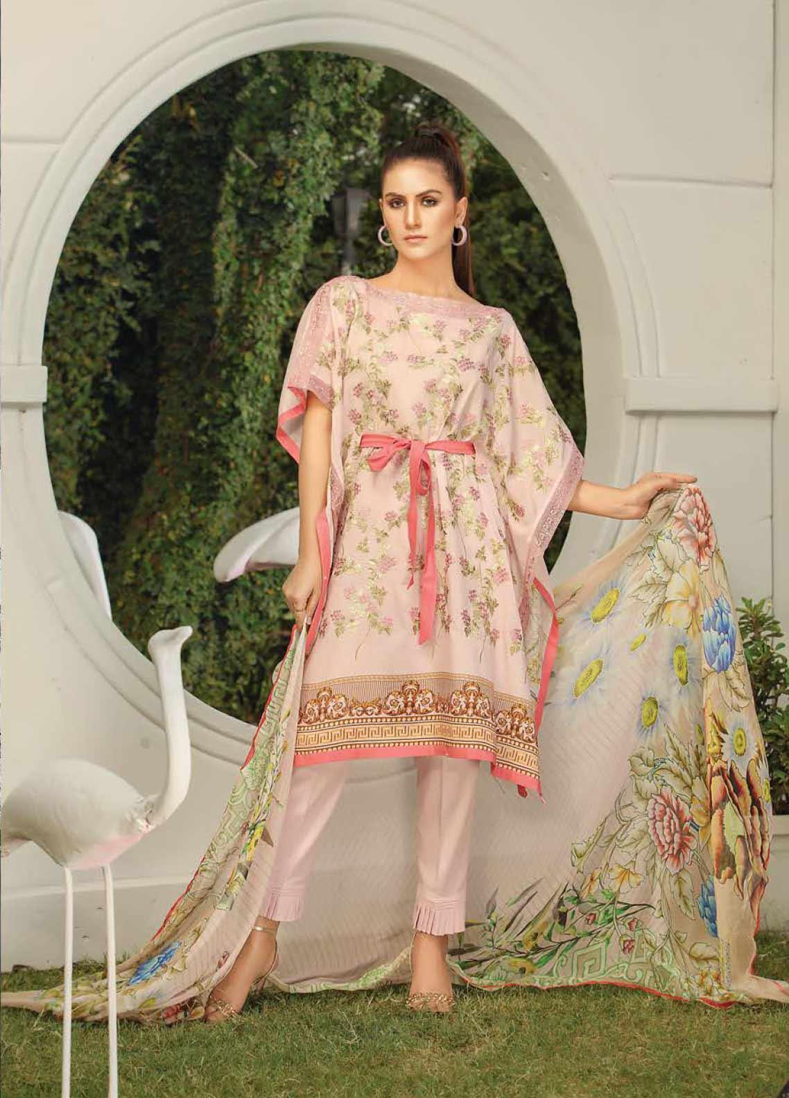 Panache by Puri Fabrics Embroidered Lawn Unstitched 3 Piece Suit PF20DP 7 - Spring / Summer Collection