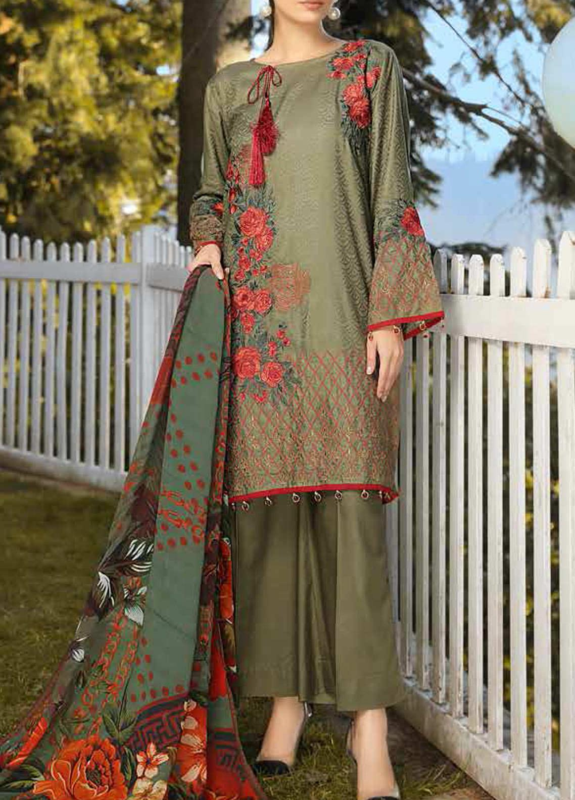 Panache by Puri Fabrics Embroidered Linen Unstitched 3 Piece Suit PCH20LC 01 - Winter Collection