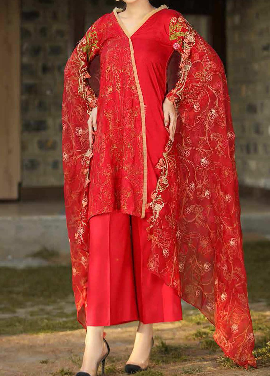 Panache by Puri Fabrics Embroidered Linen Unstitched 3 Piece Suit PCH20LC 04 - Winter Collection