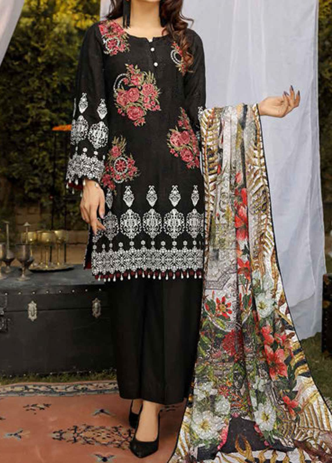 Panache by Puri Fabrics Embroidered Viscose Unstitched 3 Piece Suit PE20PF-2 D-04 - Festive Collection