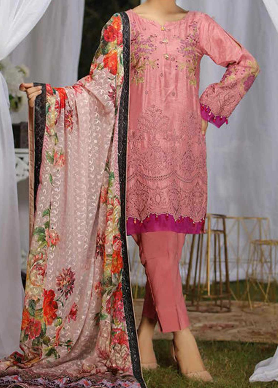 Panache by Puri Fabrics Embroidered Viscose Unstitched 3 Piece Suit PE20PF-2 D-10 - Festive Collection