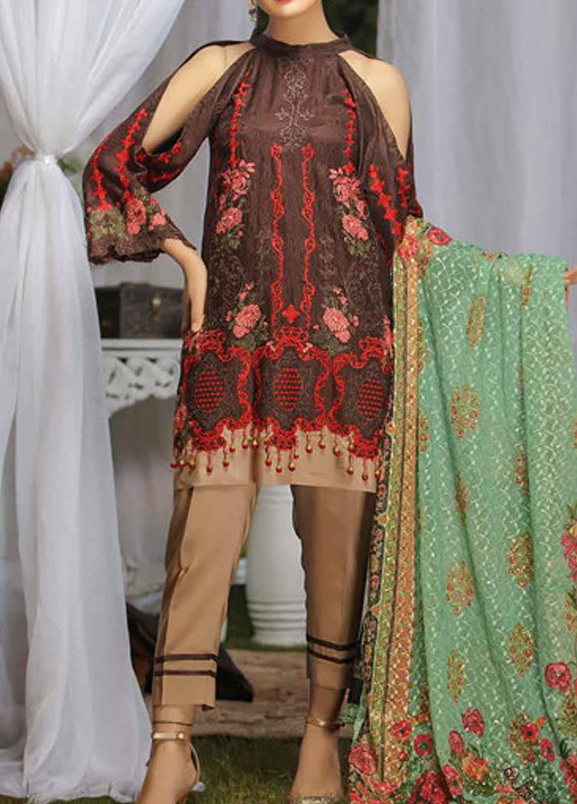 Panache by Puri Fabrics Embroidered Viscose Unstitched 3 Piece Suit PE20PF-2 D-11 - Festive Collection