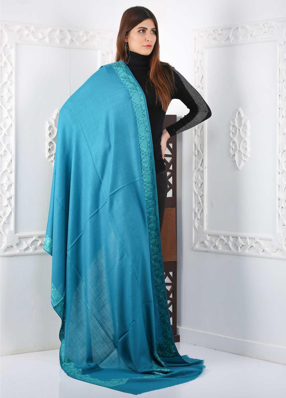 Sanaulla Exclusive Range Embroidered Pashmina  Shawl Shawl 323486 - Pashmina Shawls