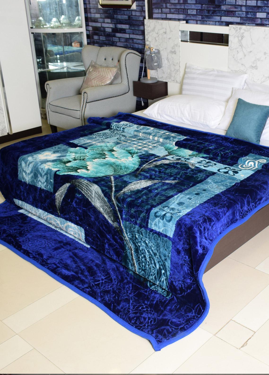 Plush Mink Double Bed Supreme Soft Finish Blankets 2 Ply Purist Korea Double-PK212 - Home & Decor