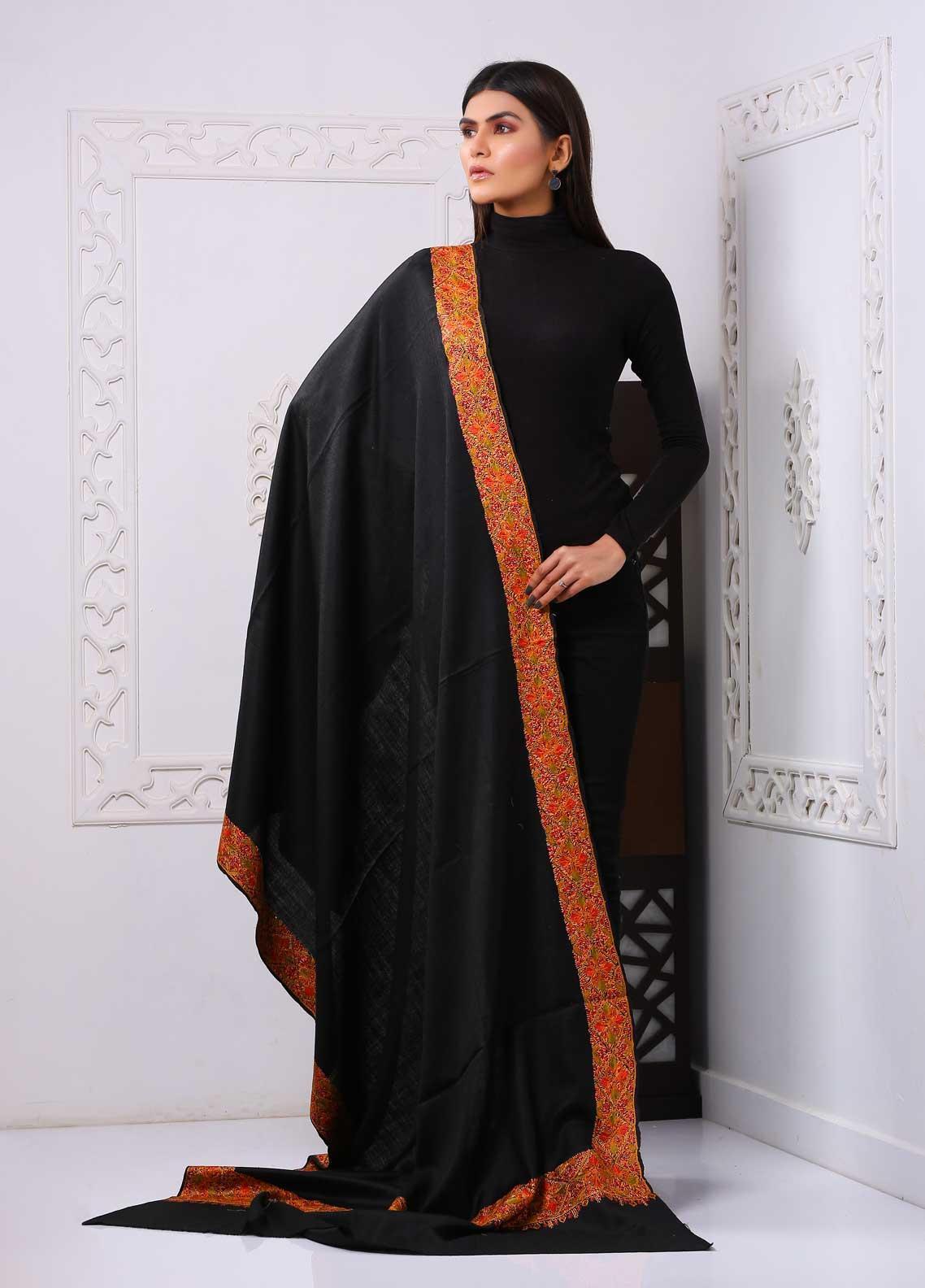 Sanaulla Exclusive Range Embroidered Premium Pashmina  Shawl PRMSH 323846 - Premium Pashmina Shawls