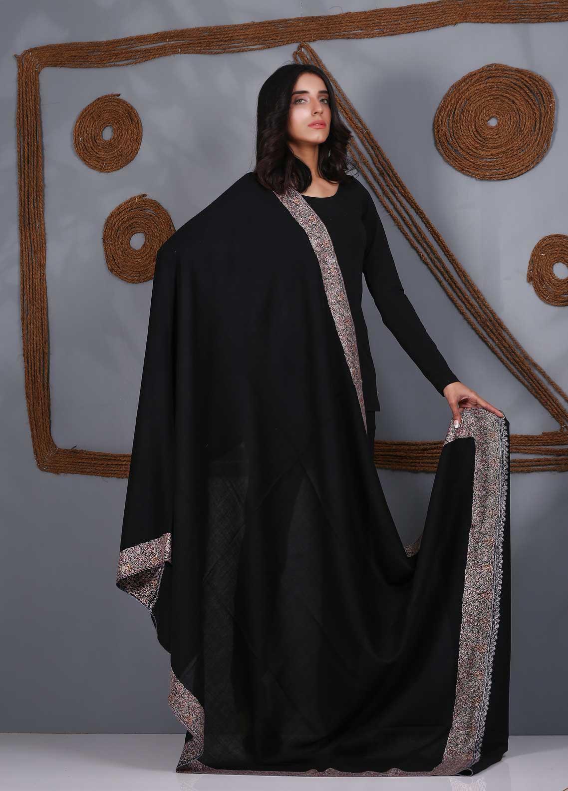 Sanaulla Exclusive Range Embroidered Pashmina  Shawl SU21PS 323490 - Pashmina Shawls