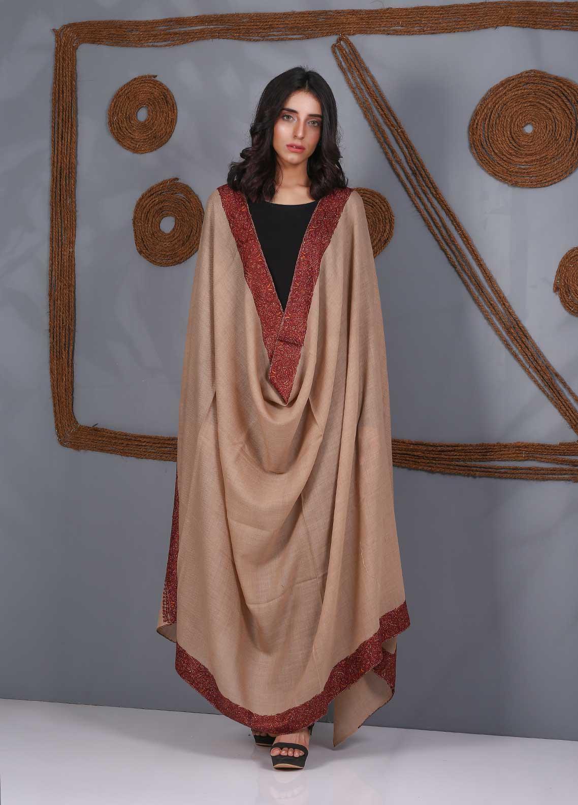 Sanaulla Exclusive Range Embroidered Pashmina  Shawl SU21PS 323493 - Pashmina Shawls