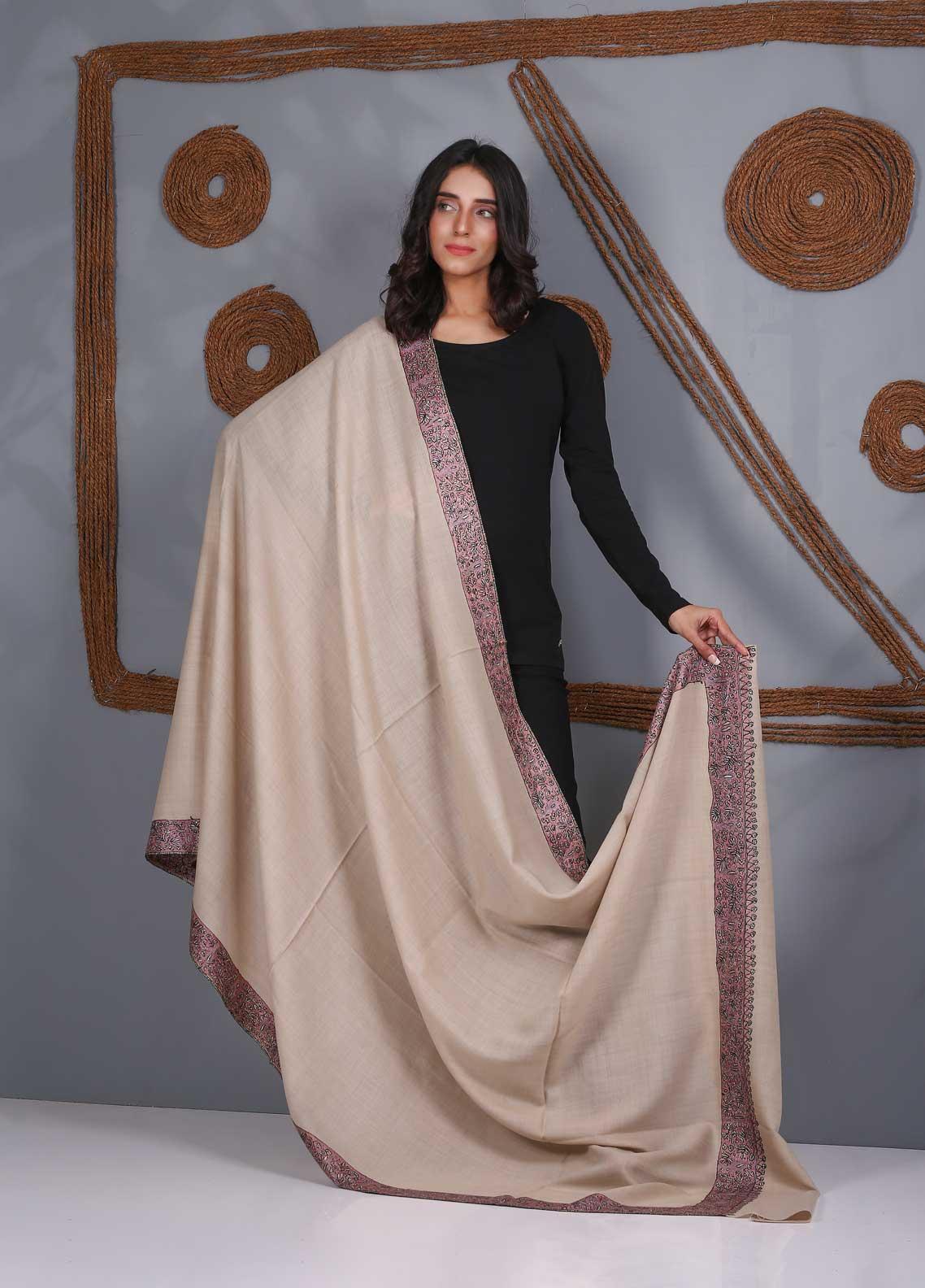 Sanaulla Exclusive Range Embroidered Pashmina  Shawl SU21PS 323494 - Pashmina Shawls