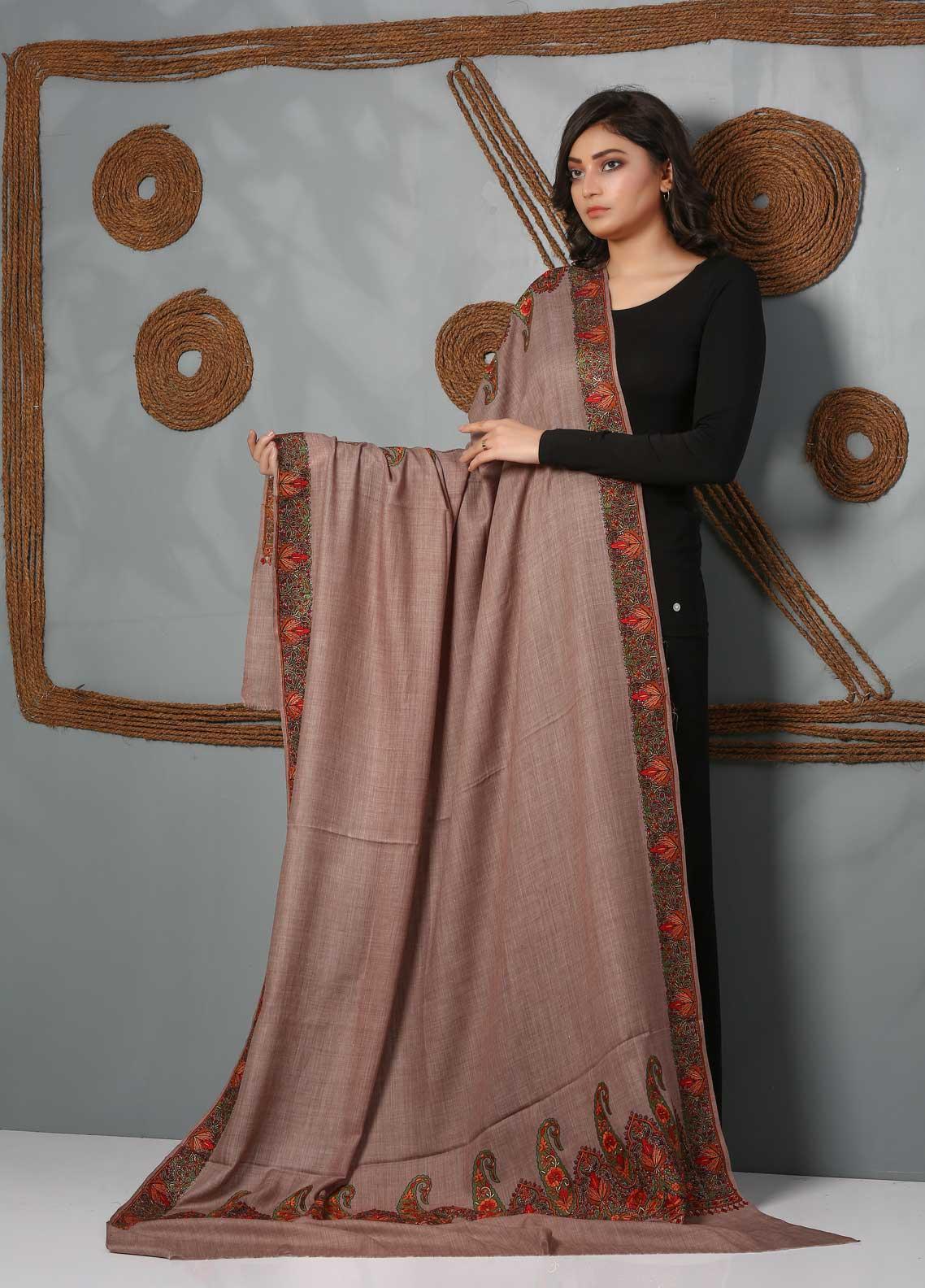 Sanaulla Exclusive Range Embroidered Pashmina  Shawl SU21PS 323923 - Pashmina Shawls