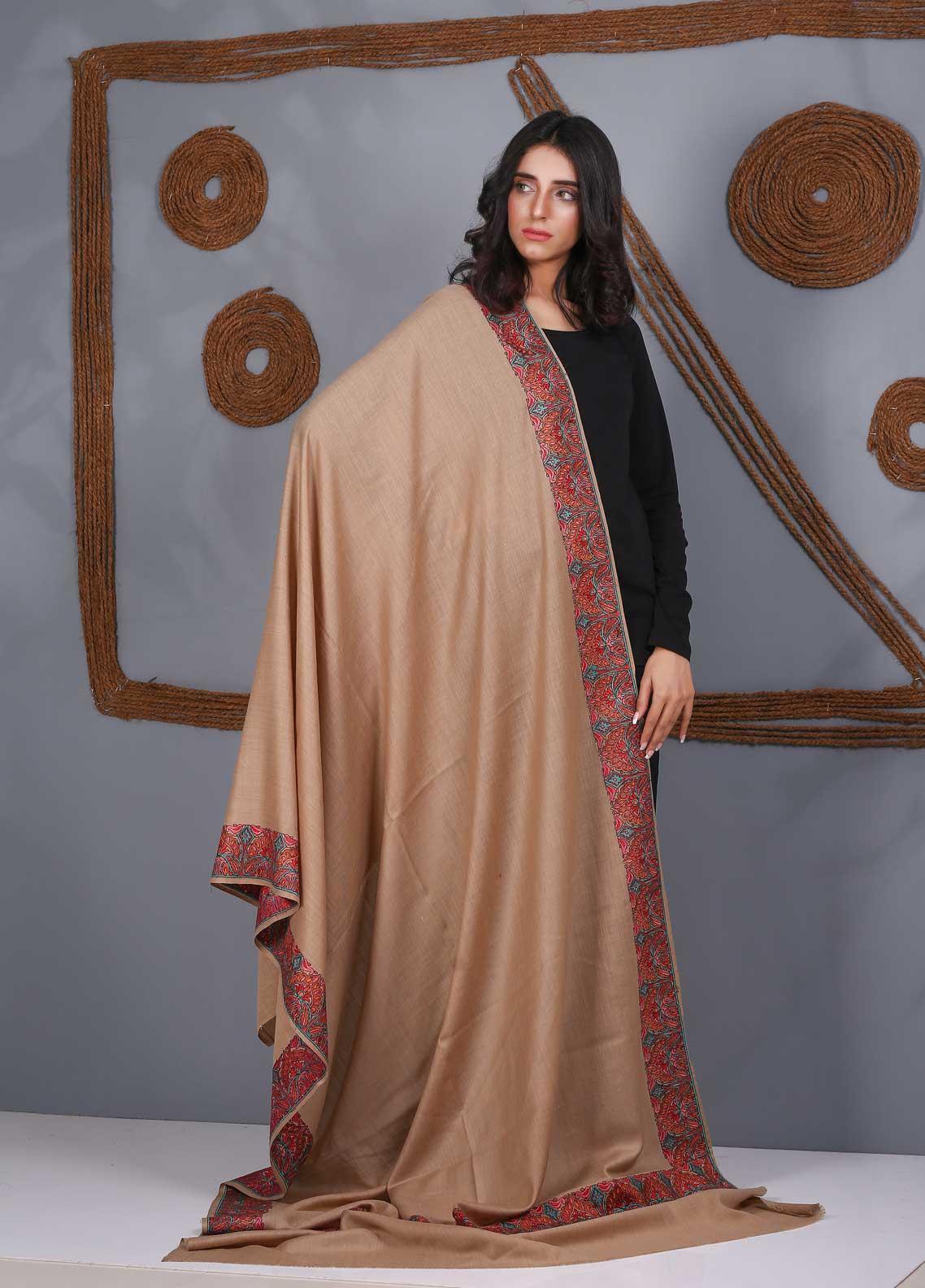 Sanaulla Exclusive Range Embroidered Pashmina Shawl SU21PS 323957 - Pashmina Shawls