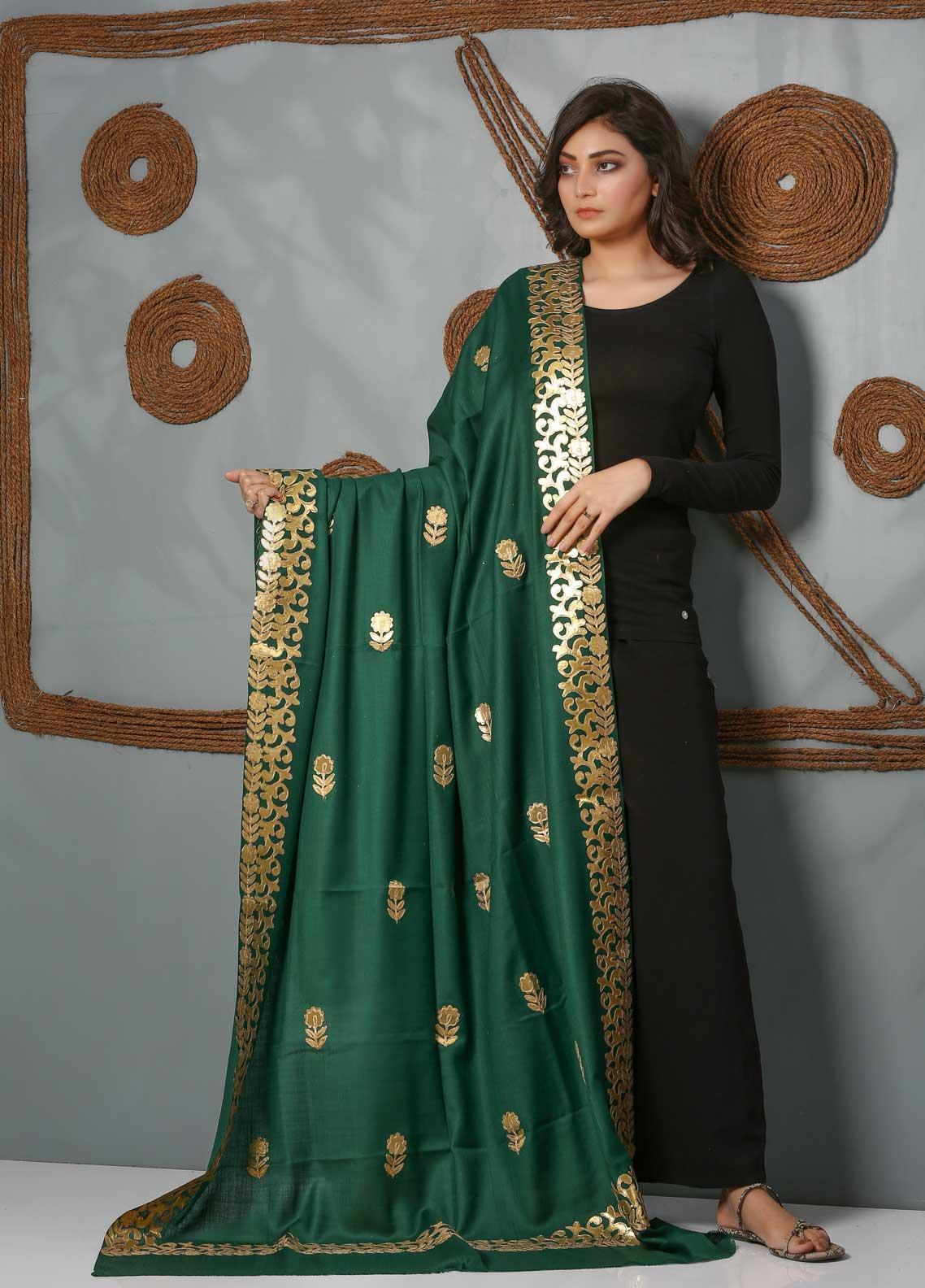 Sanaulla Exclusive Range Embroidered Pashmina  Shawl SU21PS 323967 - Pashmina Shawls