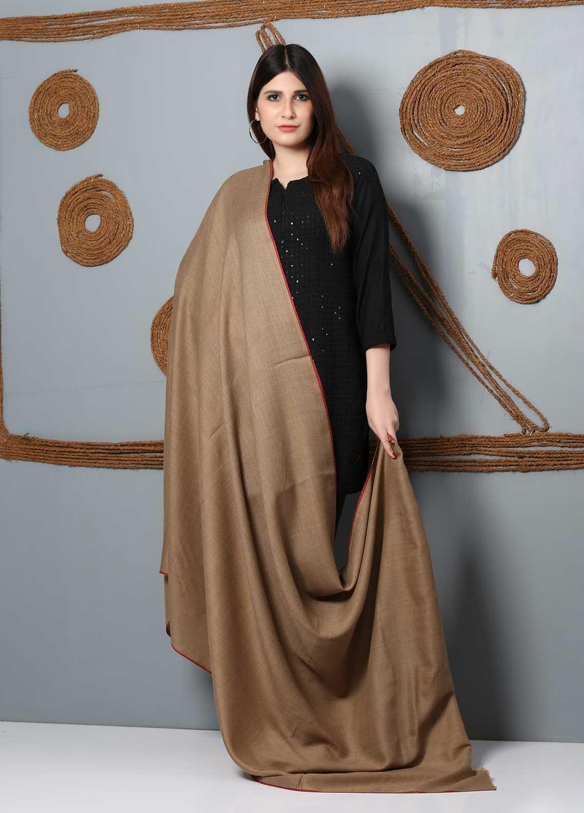 Sanaulla Exclusive Range Plain Woolen  Shawl SU21SH 334157 - Woolen Shawls