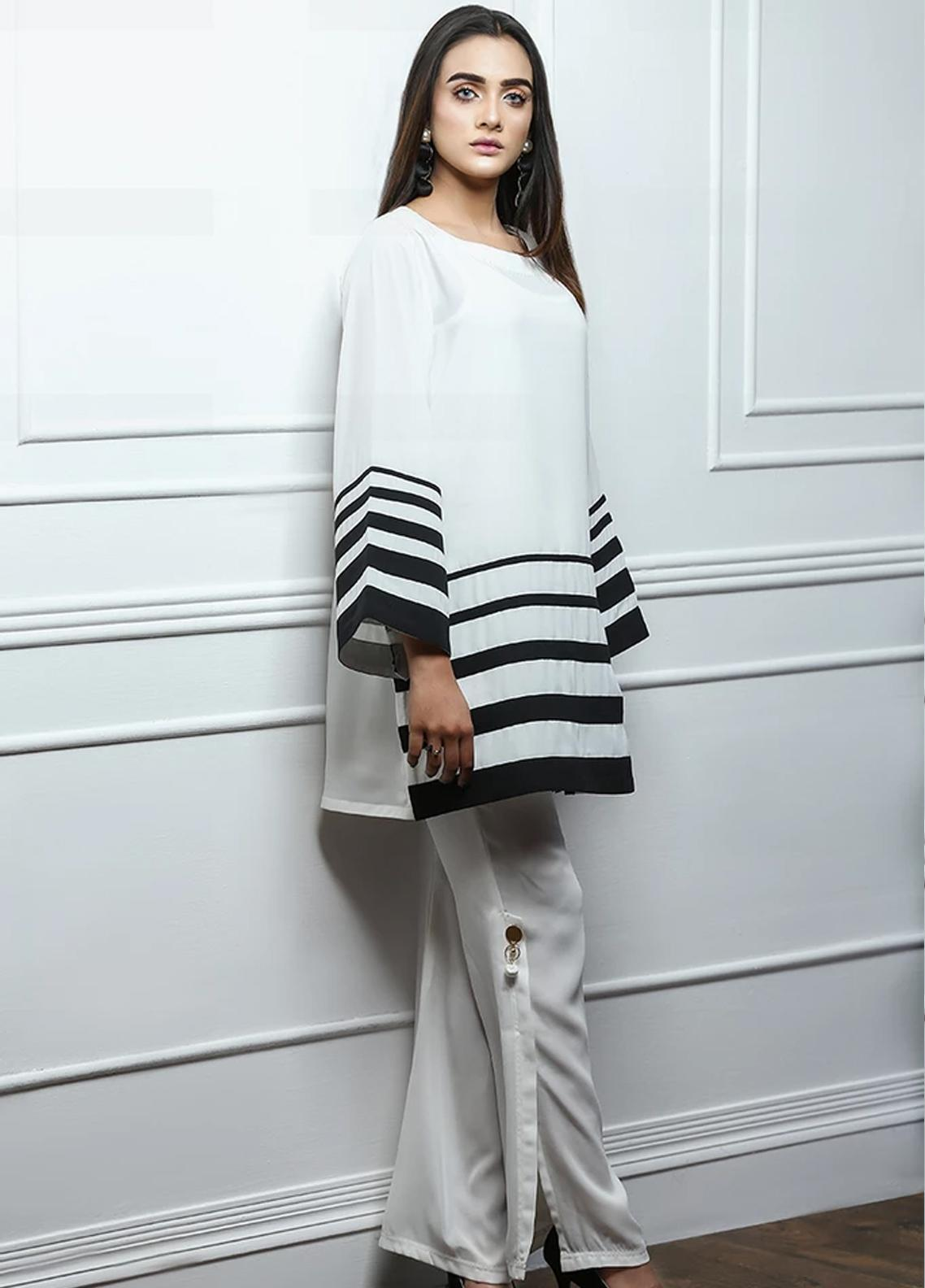 Pulsar Fancy Style Georgette Stitched Kurtis Femrosa