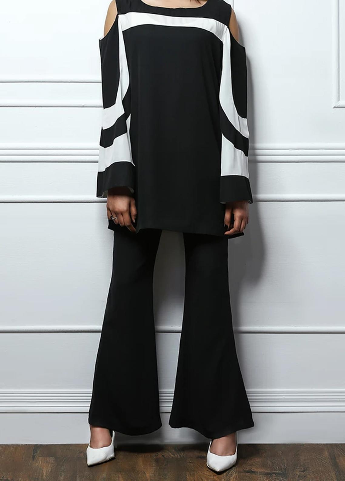 Pulsar Plain Georgette Stitched Trousers Fusion Trouser