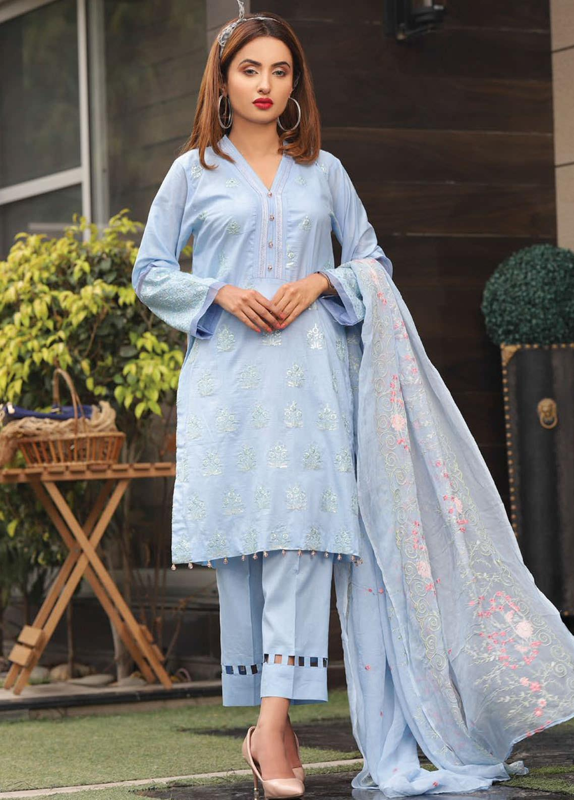 Puri Fabrics Embroidered Lawn Unstitched 3 Piece Suit PF20EM 6 - Spring / Summer Collection