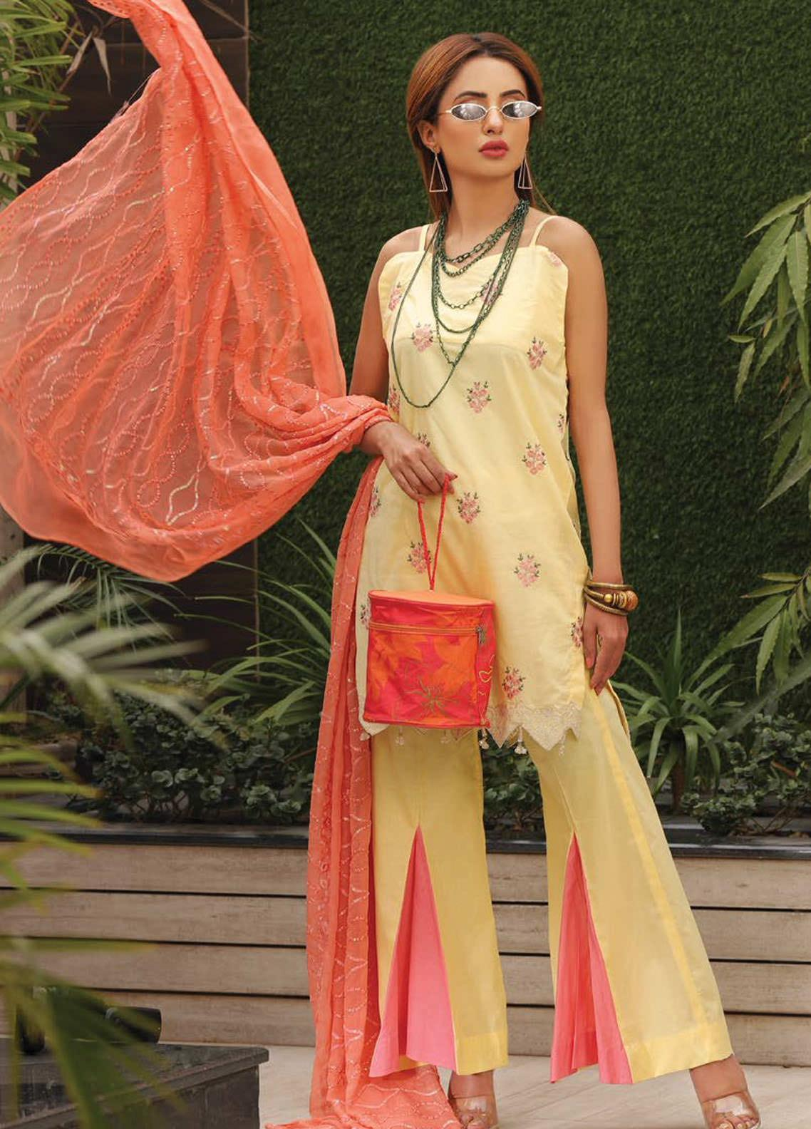Puri Fabrics Embroidered Lawn Unstitched 3 Piece Suit PF20EM 7 - Spring / Summer Collection