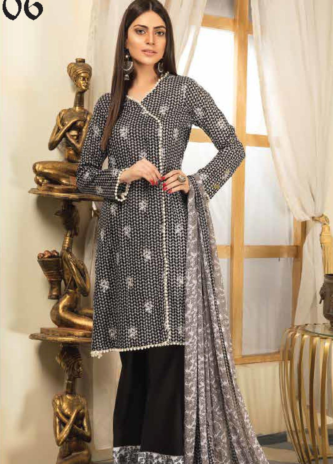 Range by Sanam Saeed Embroidered Lawn Unstitched 3 Piece Suit PF20RS 06 - Luxury Collection