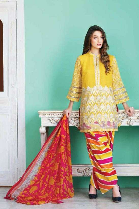 Riaz Arts Embroidered Swiss Voile Unstitched Suit 3 Piece Suit RA17V 19