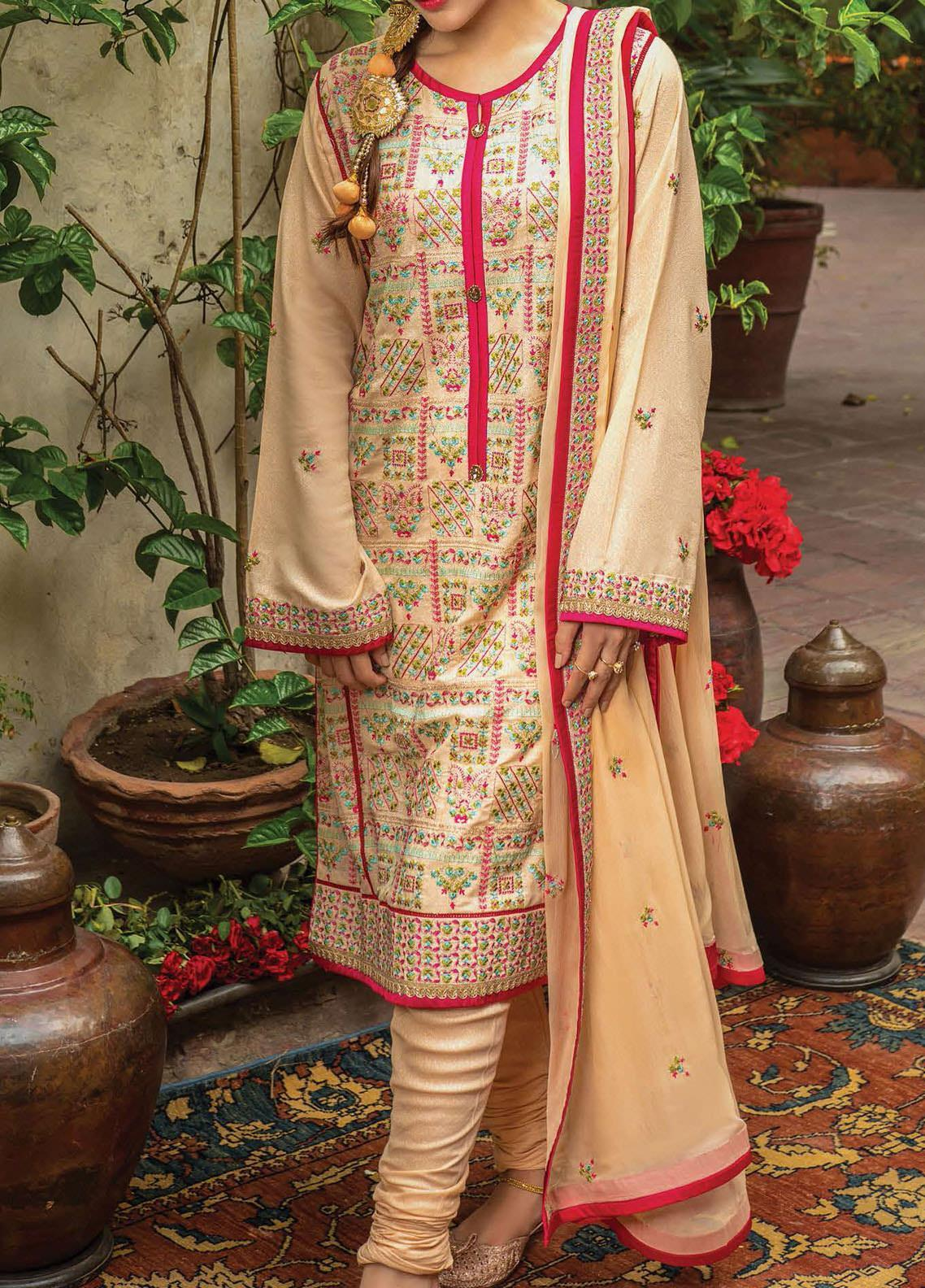 Raaya by Rang Rasiya Embroidered Karandi Unstitched 3 Piece Suit RR20R 320 - Winter Collection