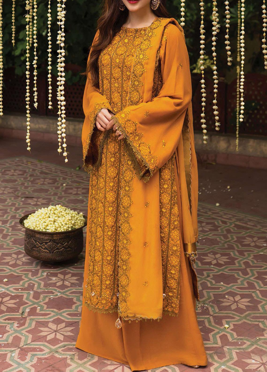 Raaya by Rang Rasiya Embroidered Karandi Unstitched 3 Piece Suit RR20R 324 - Winter Collection
