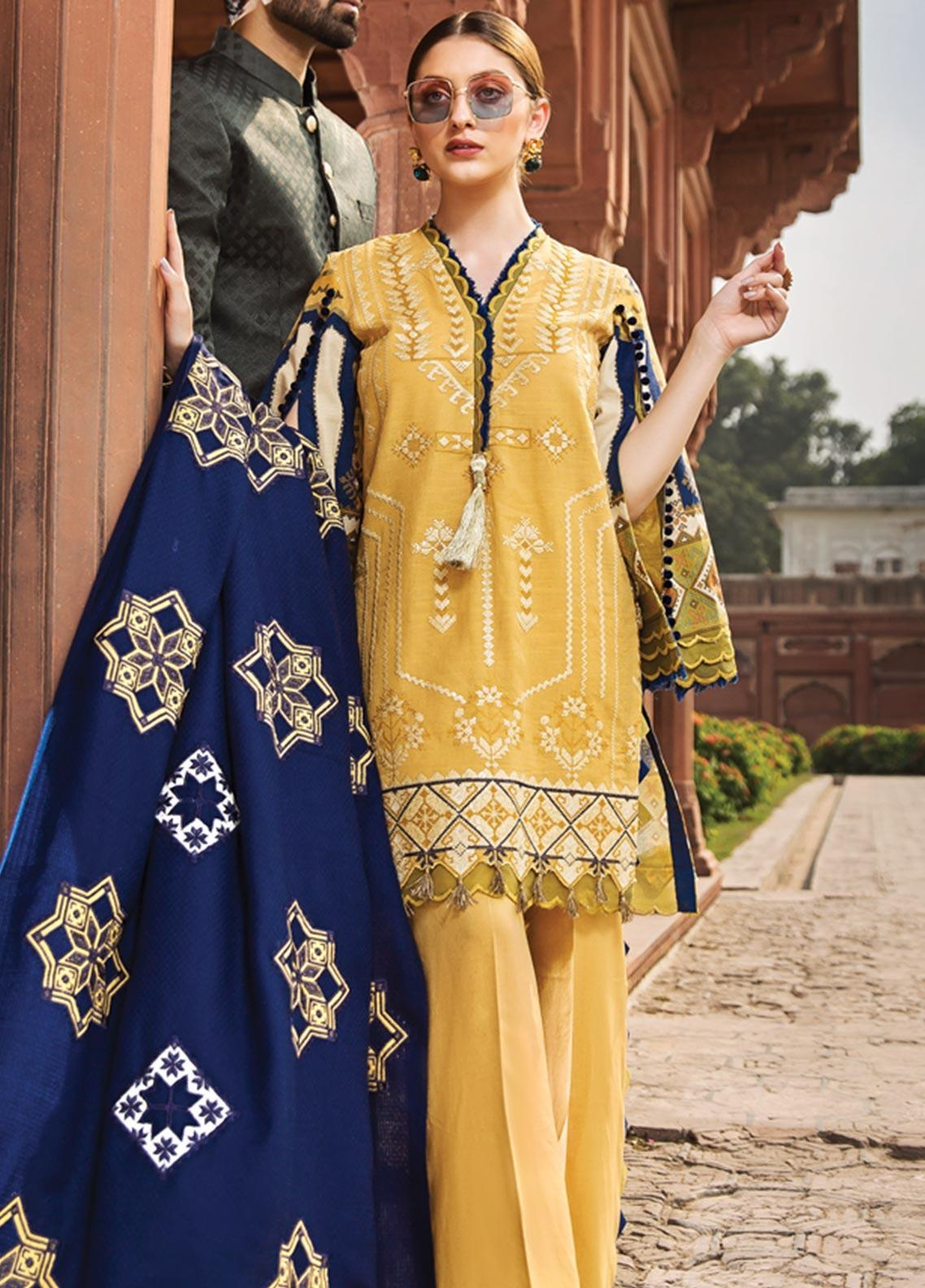 Raaya by Rang Rasiya Embroidered Linen Unstitched 3 Piece Suit RY19W 7 - Winter Collection