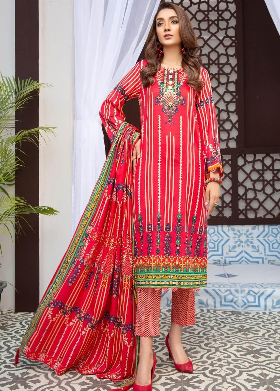 Ittehad Textiles Printed Lawn Suits Unstitched 3 Piece IT21R LF-RHT-21711A - Summer Collection