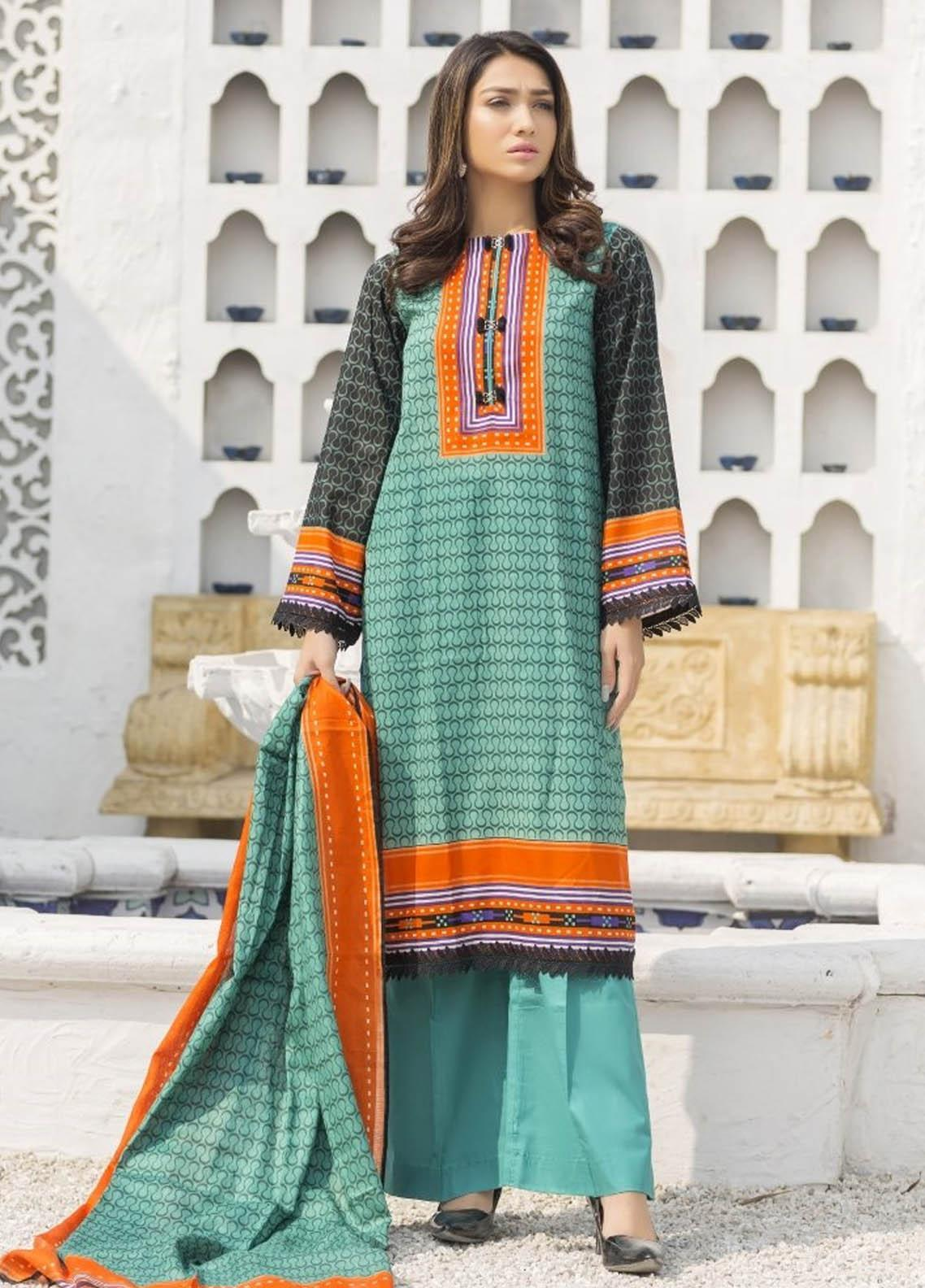 Ittehad Textiles Printed Lawn Suits Unstitched 3 Piece IT21R LF-RHT-21722B - Summer Collection