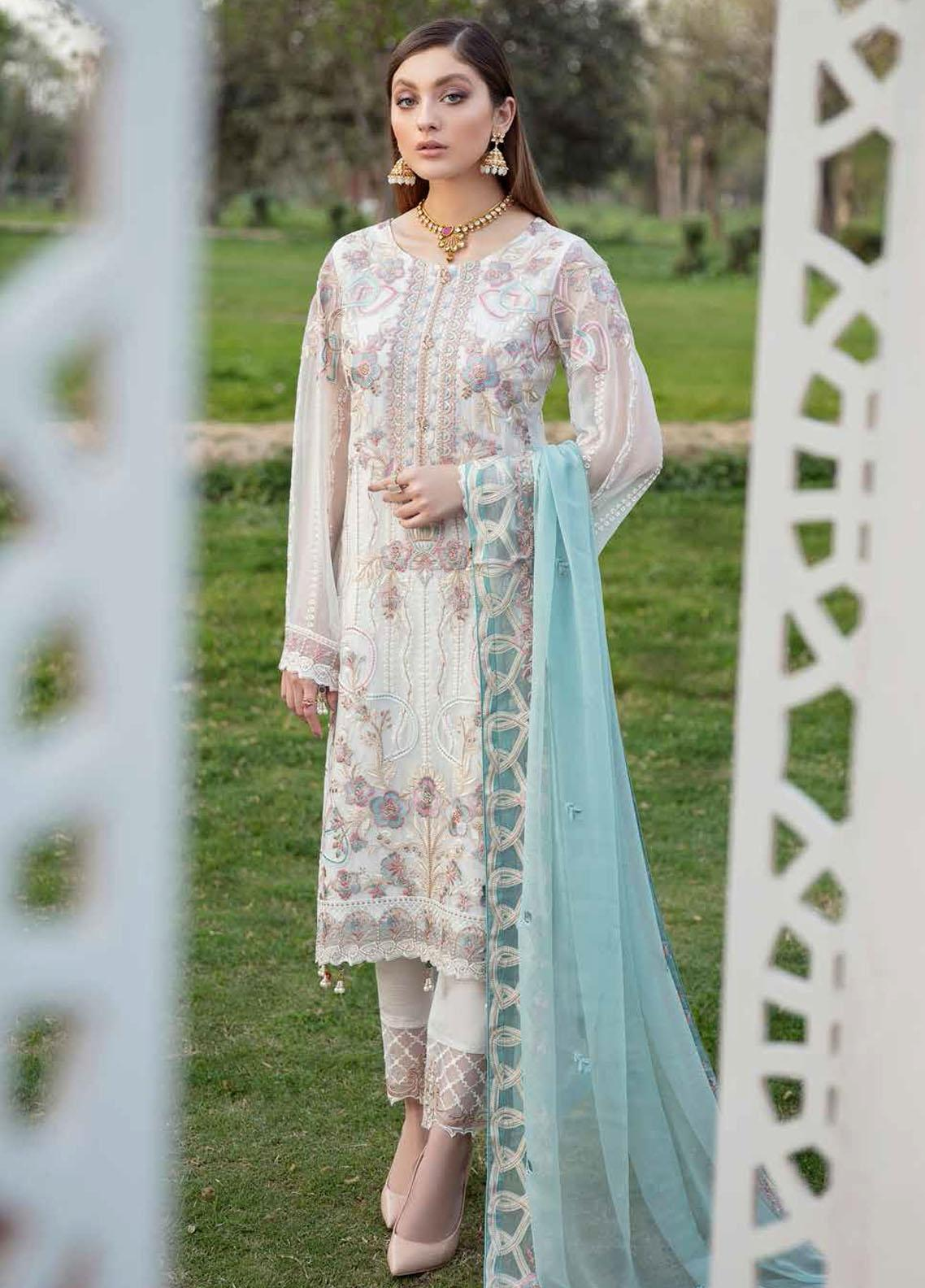 Ramsha Embroidered Chiffon Suits Unstitched 3 Piece RSH21-C20 2008 - Luxury Collection