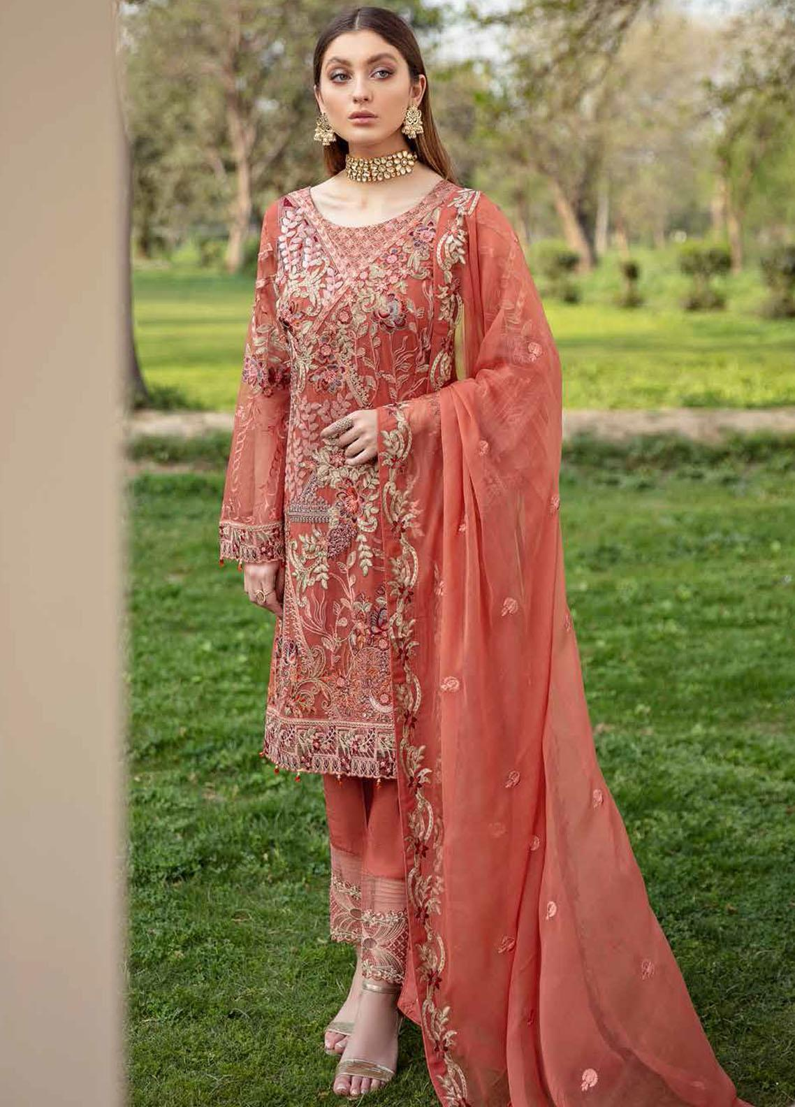 Ramsha Embroidered Chiffon Suits Unstitched 3 Piece RSH21-C20 2010 - Luxury Collection