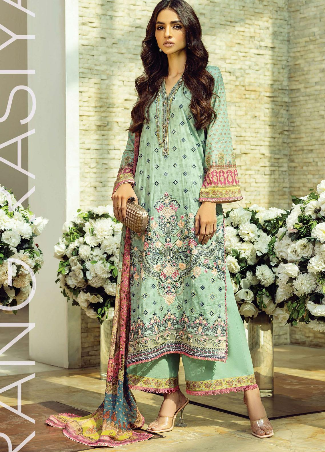 Florence By Rang Rasiya Embroidered Lawn Suits Unstitched 3 Piece RR21FF 05 Nevile - Festive Collection