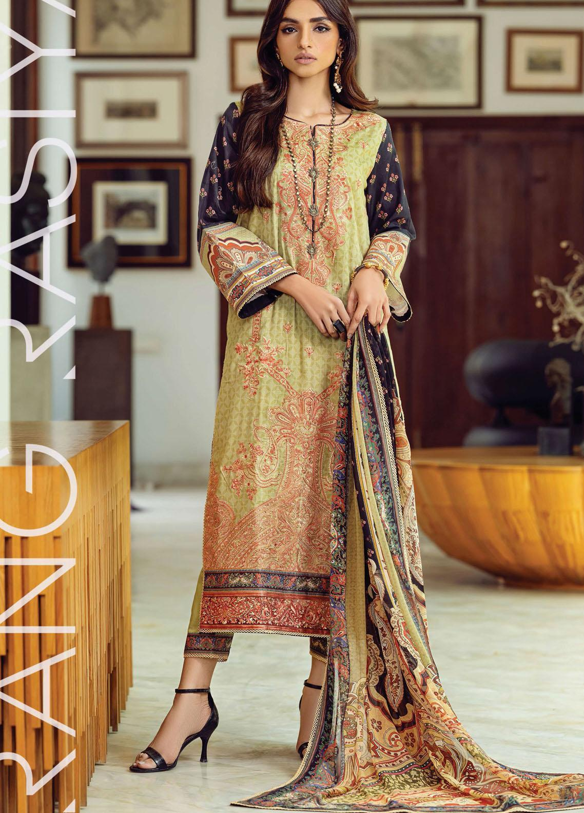 Florence By Rang Rasiya Embroidered Lawn Suits Unstitched 3 Piece RR21FF 08 Gotth - Festive Collection