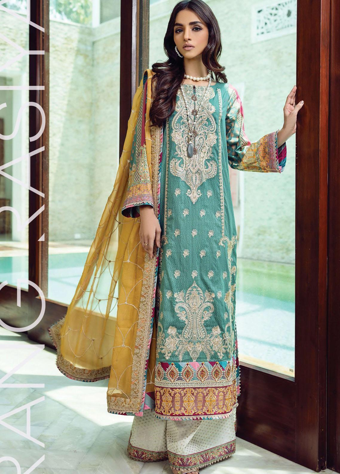 Florence By Rang Rasiya Embroidered Lawn Suits Unstitched 3 Piece RR21FF 11 Rabt - Festive Collection
