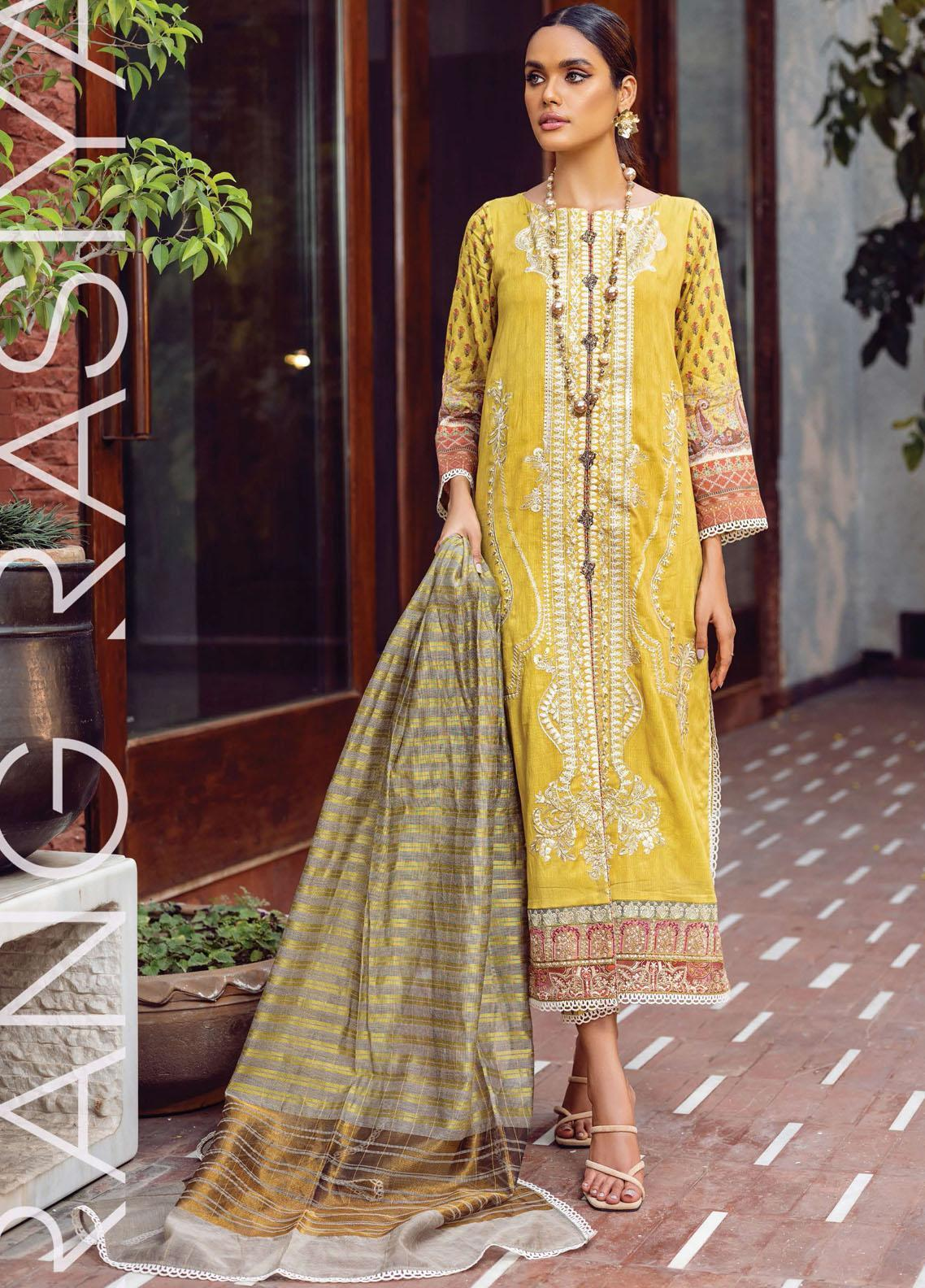 Florence By Rang Rasiya Embroidered Lawn Suits Unstitched 3 Piece RR21FF 12 Uraan - Festive Collection