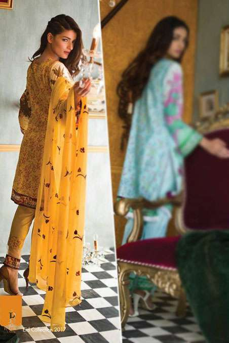 Rabea By Shariq Textiles Embroidered Lawn Unstitched 3 Piece Suit RB17E 7A