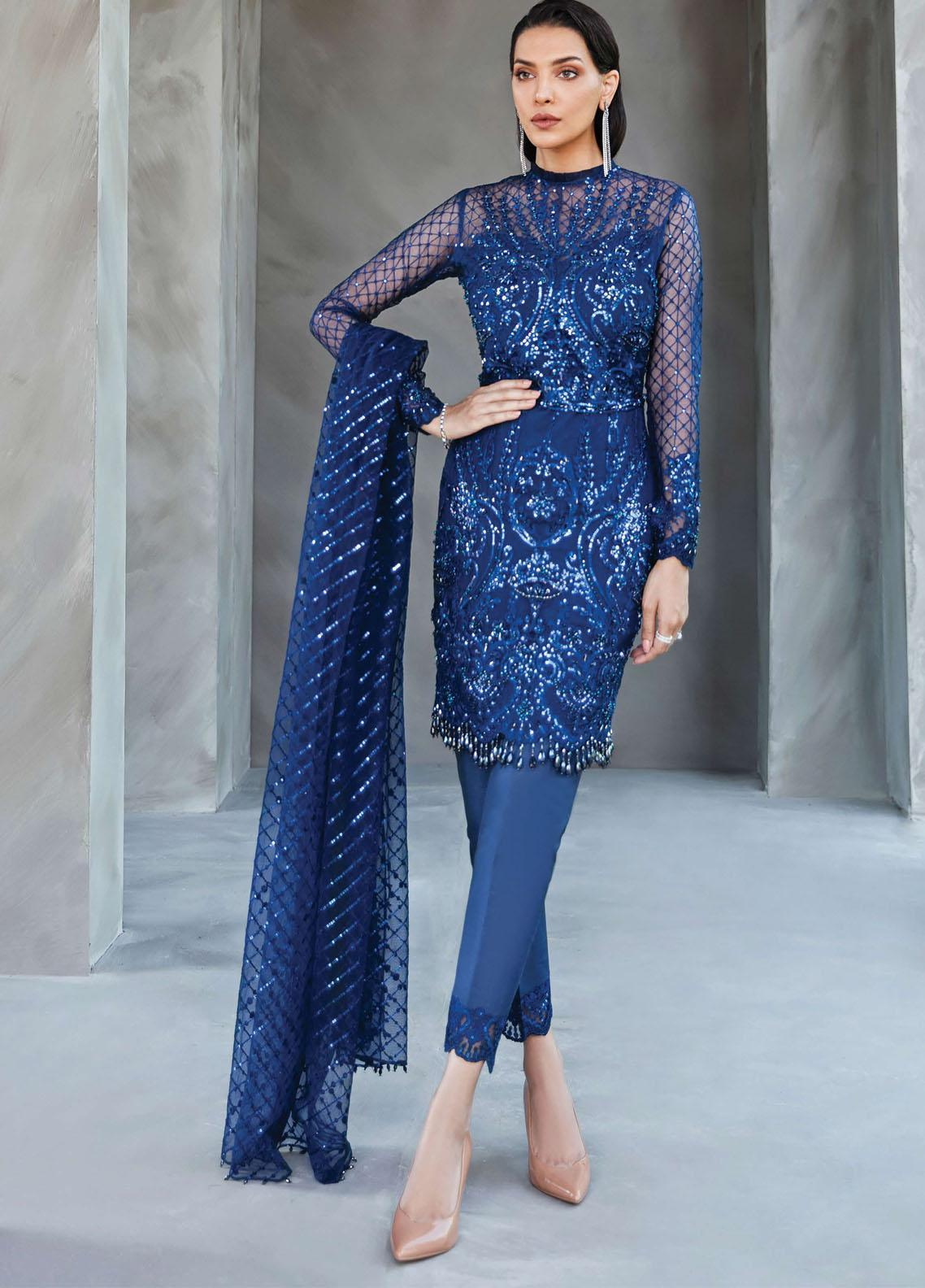Amour & Bonheur by Reign Embroidered Organza Unstitched 3 Piece Suit RGN21AB 01 Eliya - Luxury Festive Collection