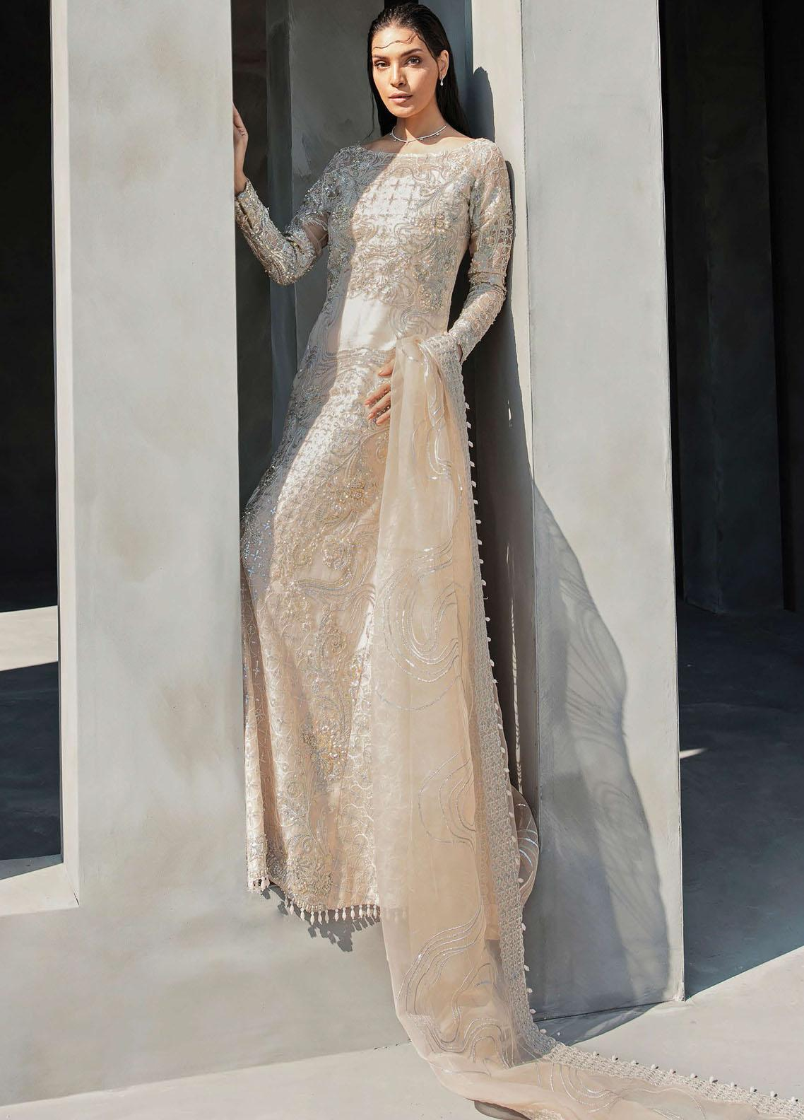 Amour & Bonheur by Reign Embroidered Organza Unstitched 3 Piece Suit RGN21AB 03 Harlem - Luxury Festive Collection