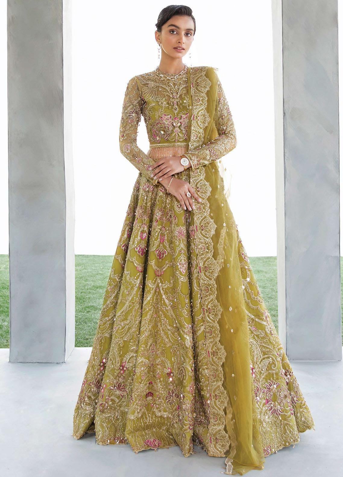 Amour & Bonheur by Reign Embroidered Net Unstitched 3 Piece Suit RGN21AB 09 Rosette - Luxury Festive Collection