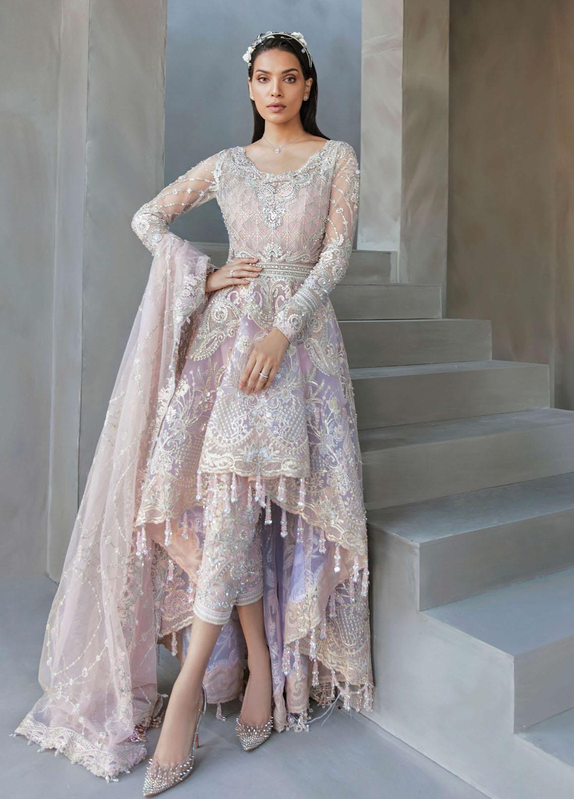 Amour & Bonheur by Reign Net Organza Unstitched 3 Piece Suit RGN21AB 10 Lilian - Luxury Festive Collection