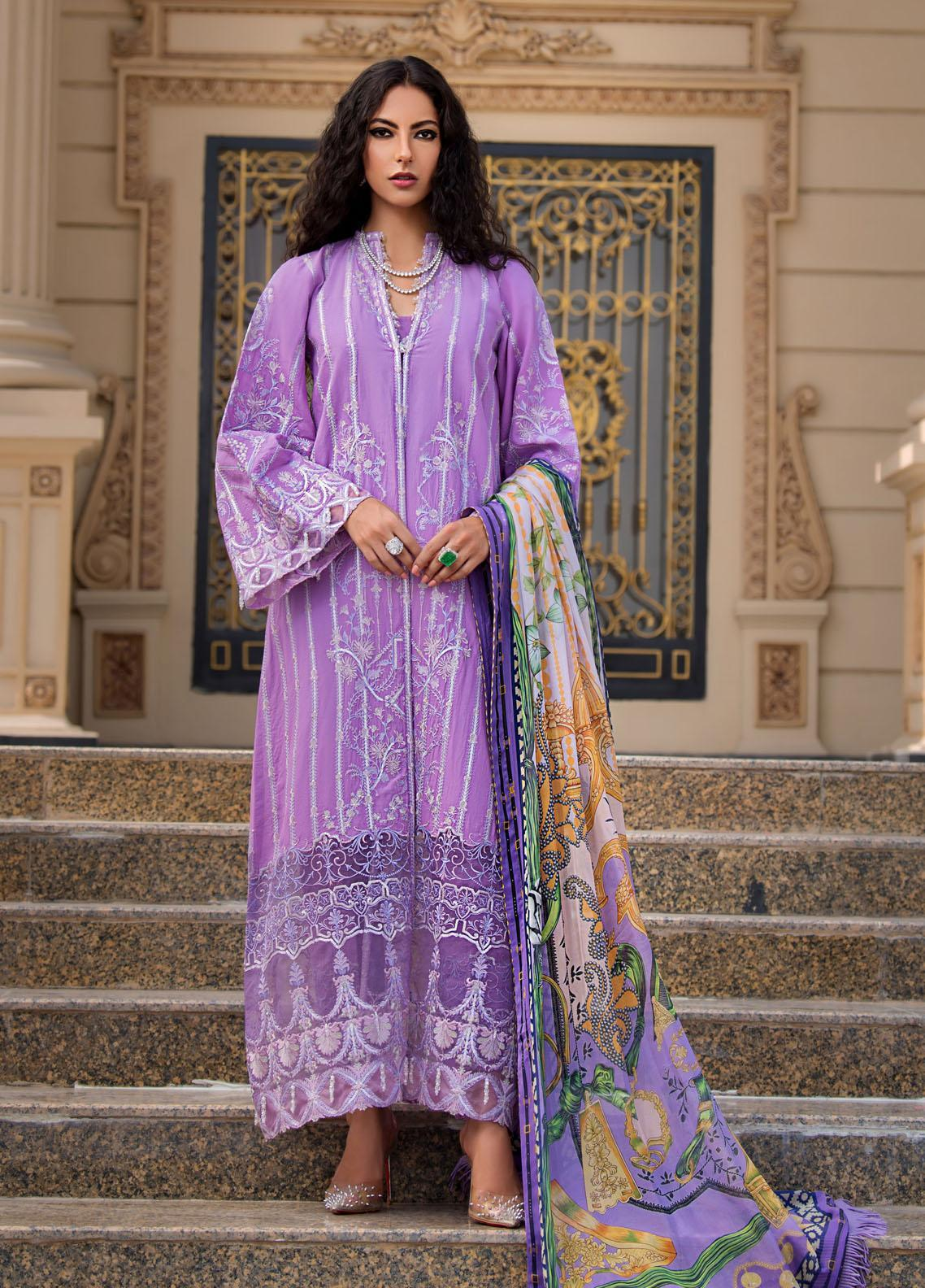 Reign Embroidered Lawn Suits Unstitched 3 Piece RGN21RG AGNES - Summer Collection